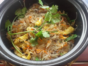 Crab and vermicelli