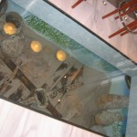 Hotel Mirador de Dalt Vila in-floor shipwreck artifacts Ibiza