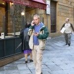 Leif Pettersen researching in Volterra, Italy