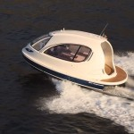 Swanky mini-yacht is the deluxe campervan of the sea