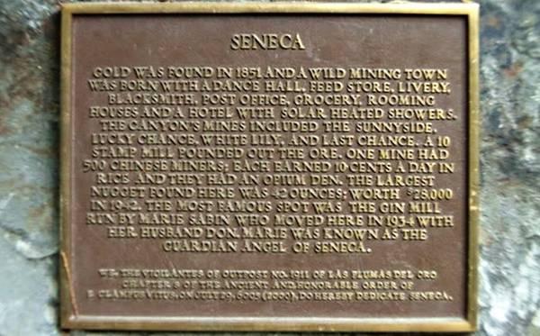 Town plaque.